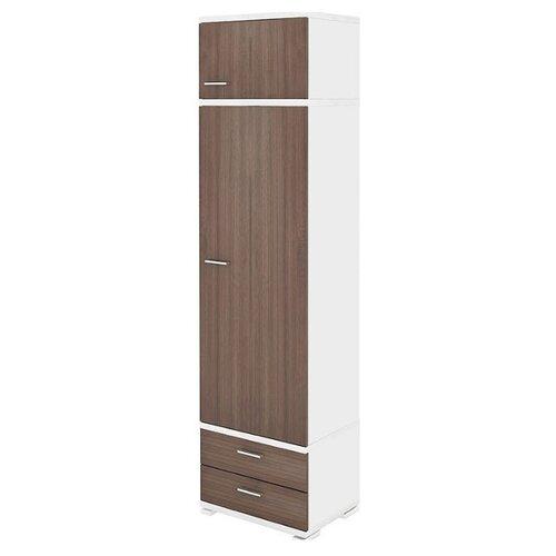 Шкаф-пенал для одежды Мэрдэс Домино КС-10, (ШхГхВ): 55.3х42.7х213 см, белый жемчуг/шамони