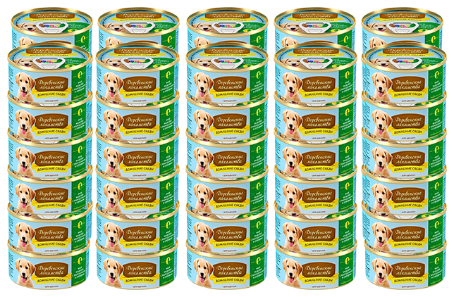 Корм для щенков Деревенские лакомства Домашние обеды