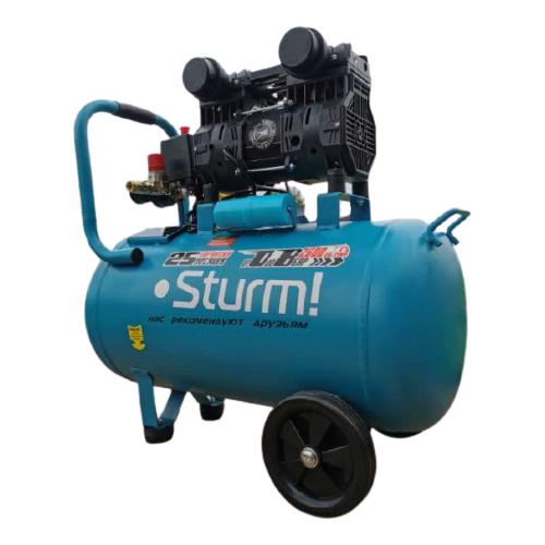 Фото - Компрессор безмасляный Sturm! AC93250OL, 50 л, 1.5 кВт компрессор безмасляный hyundai hyc 3050s 50 л 2 квт