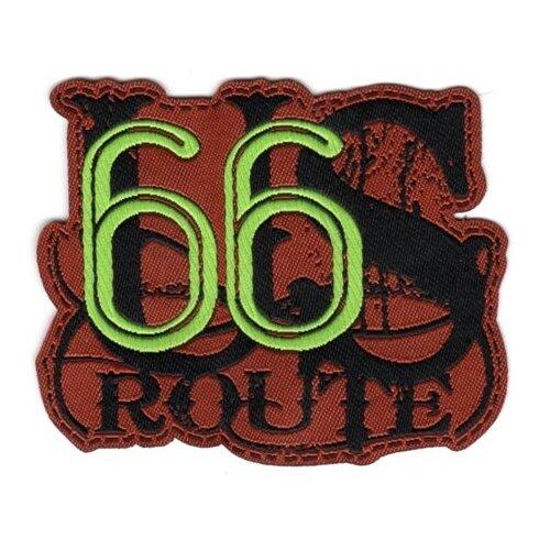 Купить Термоаппликация HKM Textil Route 66 US 8х6.5 см коричневый, Декоративные элементы
