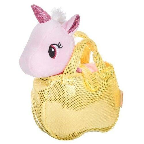 Мягкая игрушка BONDIBON Милота Крылатый единорог в золотистой сумке 20 см