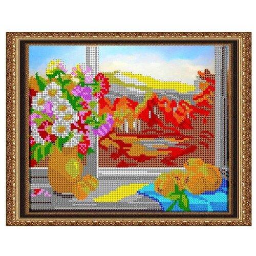 Светлица Набор для вышивания бисером У окошка 24 х 19 см, бисер Чехия (303)