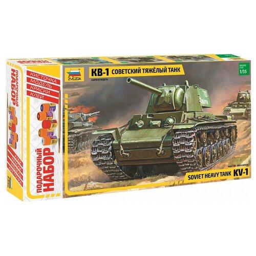 Сборная модель ZVEZDA Советский тяжелый танк КВ-1 (3539PN) 1:35, Сборные модели  - купить со скидкой