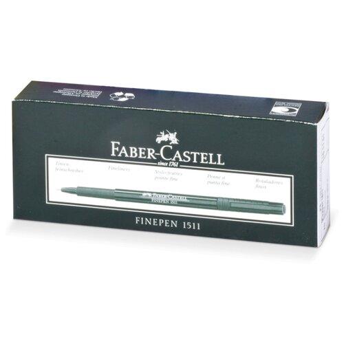 Купить Faber-Castell набор капиллярных ручек Finepen 1511 0.4 мм 10 шт, чернрый цвет чернил, Ручки