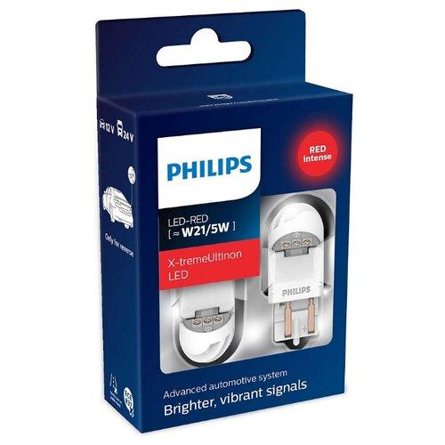 Фото - Лампа автомобильная светодиодная Philips X-tremeUltinon LED gen2 11066XURX2 W21/5W 2 шт. лампа автомобильная светодиодная philips ultinon led 11972ulwx2 led hl [h7] 14w 2 шт