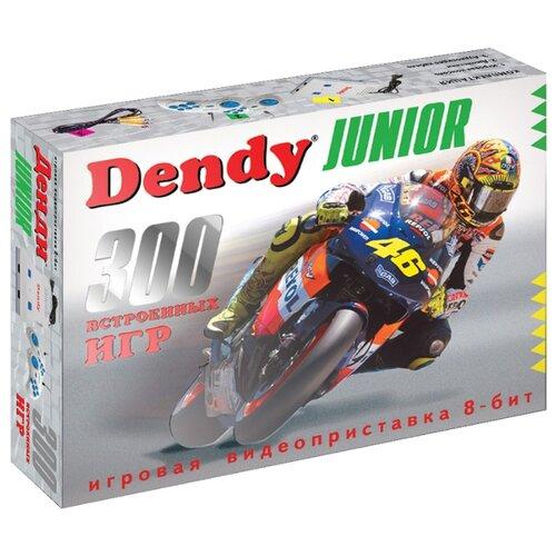 Игровая приставка Dendy Junior 300 встроенных игр серый/синий