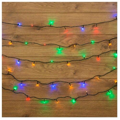 Гирлянда NEON-NIGHT Твинкл Лайт, 160 LED, 2000 см, 160 ламп, разноцветный/зеленый провод гирлянда neon night колокольчики 20 led 280 см 20 ламп разноцветный зеленый провод