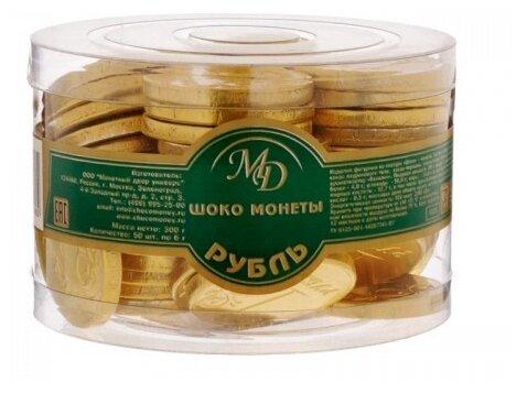 Фигурный шоколад Монетный двор ШОКО Рубль, банка