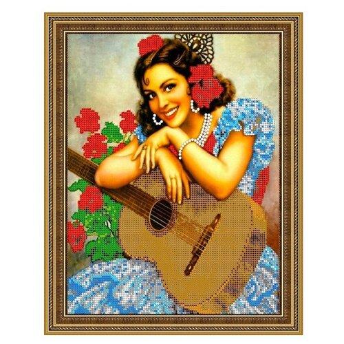 Диамант Набор алмазной вышивки Девушка с гитарой (ДК-311) 30х38 см, Алмазная вышивка  - купить со скидкой