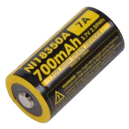 Фото - Аккумулятор Li-Ion 700 мА·ч Nitecore NL18350A, 1 шт.