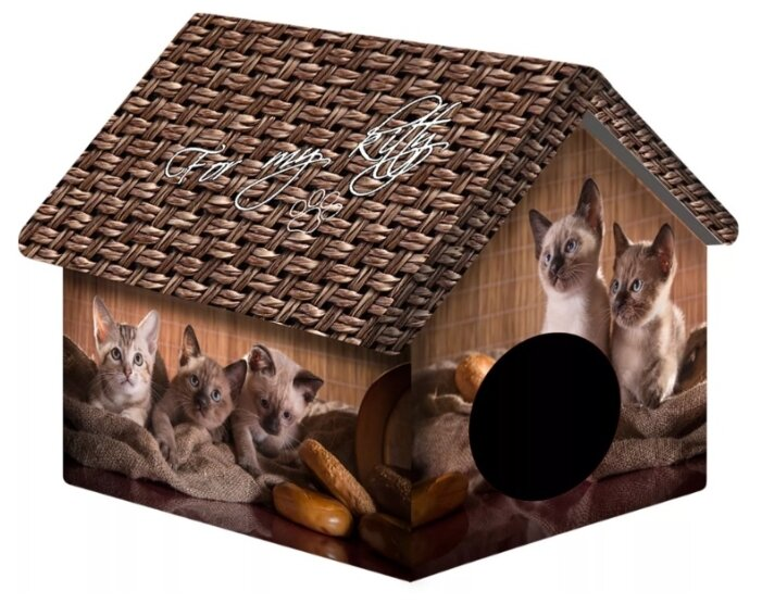 Домик для собак и кошек PerseiLine Котята