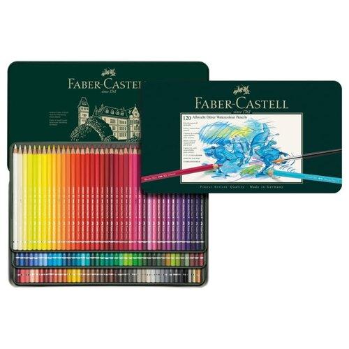Фото - Faber-Castell Карандаши акварельные Albrecht Durer, 120 цветов (117511) faber castell карандаши акварельные faber castell 24 цвета кисть