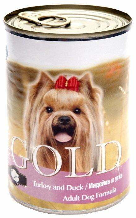 Корм для собак Nero Gold утка, индейка 410г