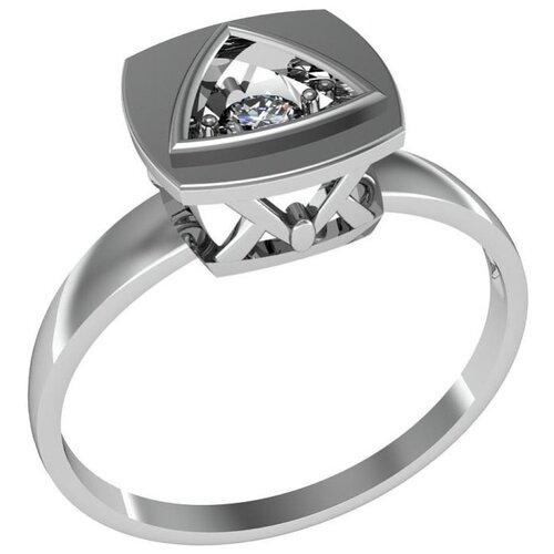 Приволжский Ювелир Кольцо с 1 фианитом из серебра 261719-FA11, размер 17.5 фото