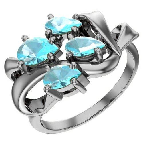 POKROVSKY Серебряное кольцо с топазом 1101271-00705, размер 19