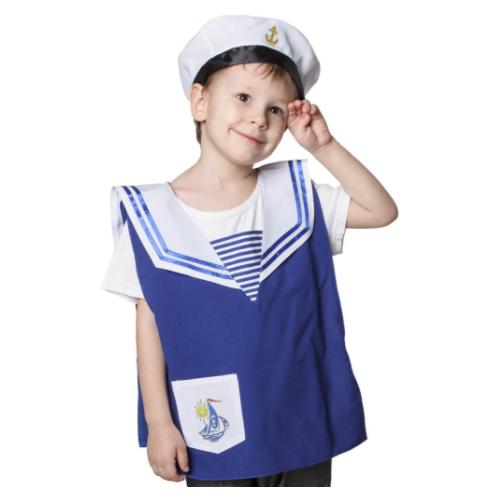 Купить Костюм ВИНИ Моряк (ВК-61022), синий/белый, размер 122-128, Карнавальные костюмы