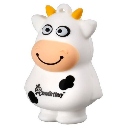 Флешка SmartBuy Wild Series Cow 32GB белый cartoon cow toothbrush sucker 1pc
