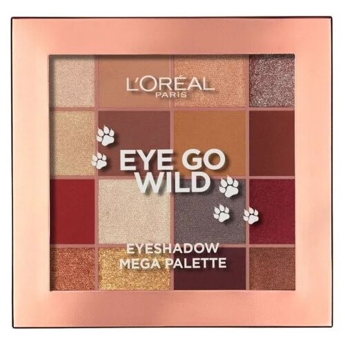 L'Oreal Paris Палетка теней Eyeshadow Mega Palette Eye Go Wild crayola mermaid eye palette палетка теней