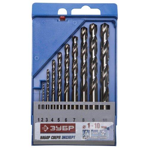 Набор сверл ЗУБР Эксперт 4-29625-H10 набор сверл по металлу зубр эксперт кобальт 29626 h10