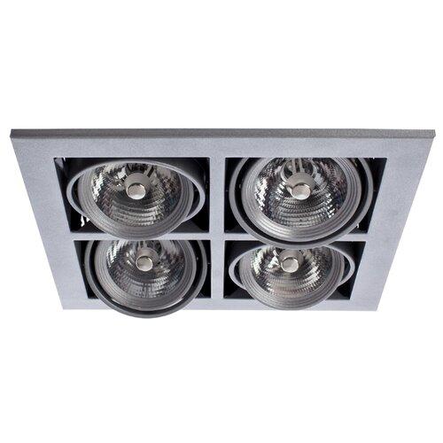 Встраиваемый светильник Arte Lamp Cardani A5930PL-4SI встраиваемый светильник artelamp a5930pl 3bk
