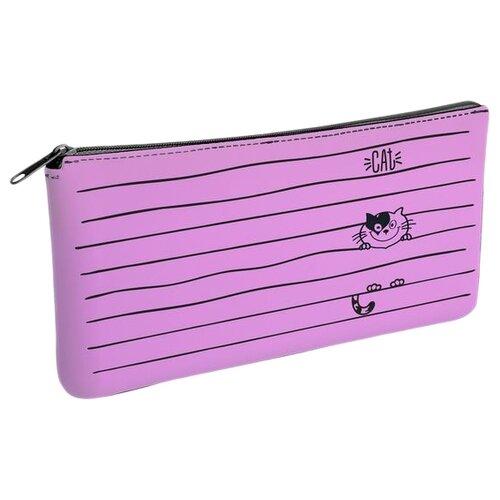 Купить Hatber Пенал Happy Cat (Npt_79224), розовый, Пеналы