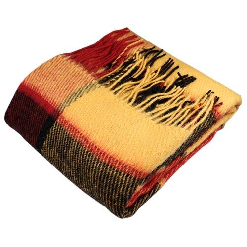 Плед ARLONI Традиция 170 х 200 см, красный/черный/желтый