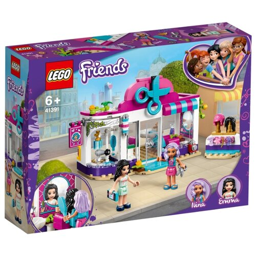 Конструктор LEGO Friends 41391 Парикмахерская Хартлейк Сити конструктор friends lego lego mp002xg00jt9