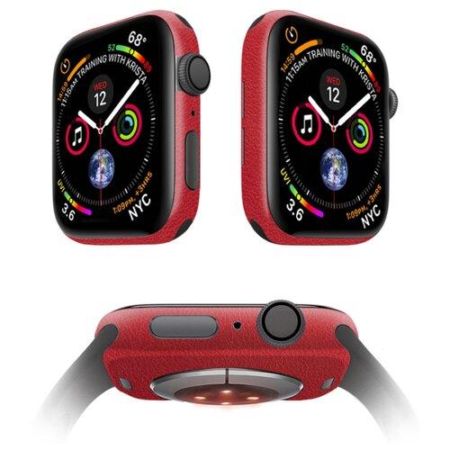 Защитная пленка MOCOLL для корпуса Apple Watch 42mm (2шт) Кожа Красная