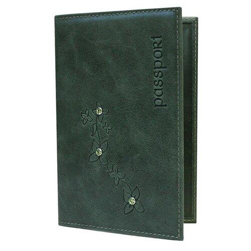 Обложка для паспорта Kniksen Мэри ОПВ, зеленый