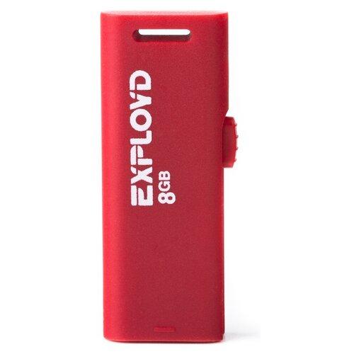Фото - Флешка EXPLOYD 580 8GB red usb flash drive 8gb exployd 580 ex 8gb 580 red