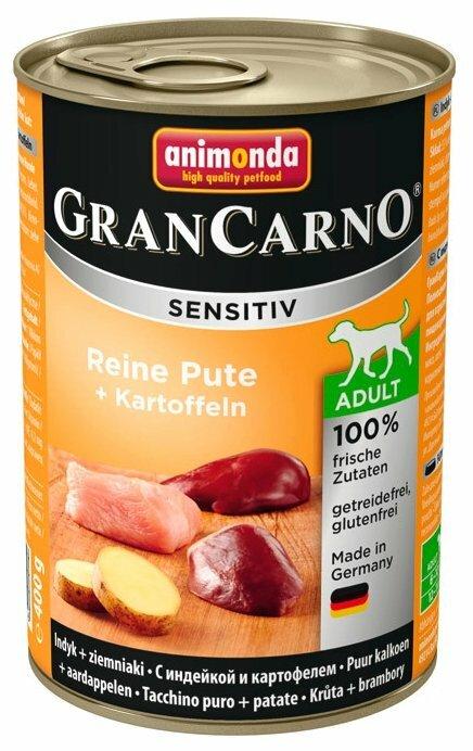 Корм для собак Animonda GranCarno индейка с картофелем 400г