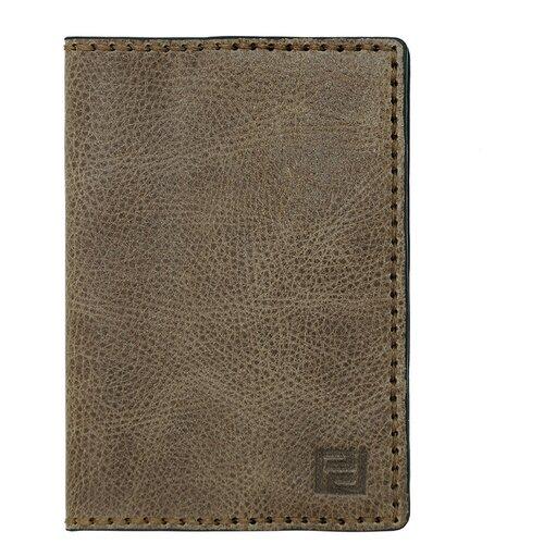 Обложка для паспорта ручной работы Protege, из натуральной кожи, цвет хаки