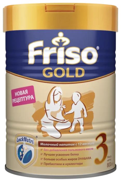 Купить Смесь Friso Friso Gold 3 без пальмового масла (от 1 года до 3 лет) 800 г по низкой цене с доставкой из Яндекс.Маркета