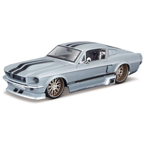 Купить Легковой автомобиль Maisto Ford Mustang GT 1967 Tuning (31094) 1:24 23 см серый, Машинки и техника