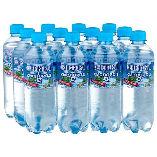 Вода минеральная Сенежская+кислород газированная, ПЭТ, 12 шт. по 0.5 л