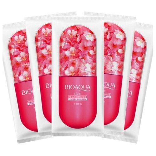 BioAqua Ночная маска для лица с экстрактом цветков сакуры Cherry Jelly, 8 г, 5 шт. маска для лица bioaqua bioaqua bi025lwdjge1