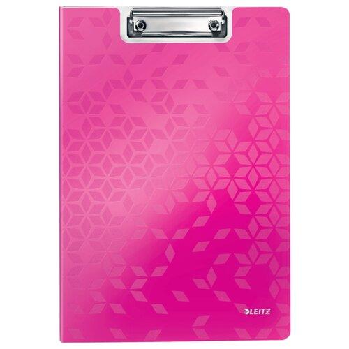 Купить Leitz Папка-планшет с верхним прижимом WOW A4, полифом розовый, Файлы и папки