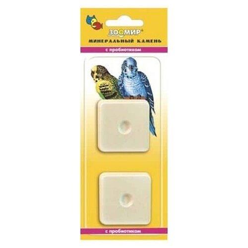 Лакомство для птиц Зоомир Минеральный камень для птиц с пробиотиком 50 г