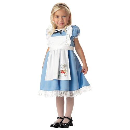 Купить Костюм California Costumes Малышка Алиса 00069, белый/голубой, размер M (3-4 года), Карнавальные костюмы