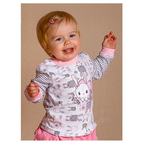 Купить Лонгслив Лапушка размер 86, серый/молочный, Футболки и рубашки