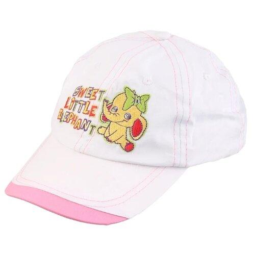Бейсболка Be Snazzy размер 52, белый/розовый