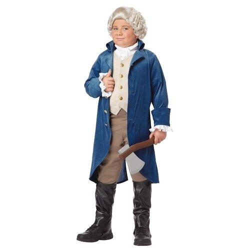 Купить Костюм California Costumes Джордж Вашингтон 00429, синий, размер XL (12-14 лет), Карнавальные костюмы