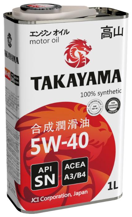 Моторное масло Takayama 5W-40 1 л