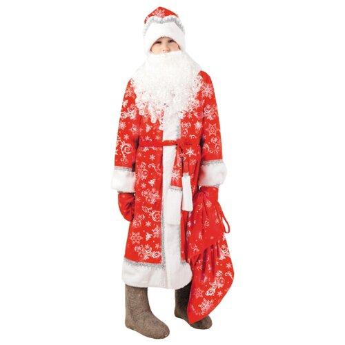 Костюм Батик Дед Мороз Морозко (1028 к-18), красный/белый, размер 140-72