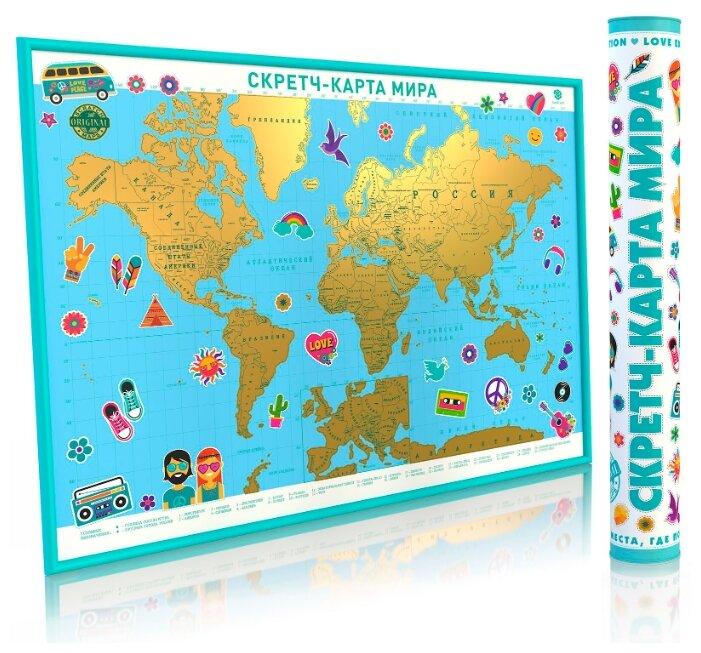 Карта-скретч мира Smart Gift Подарочная Love Edition