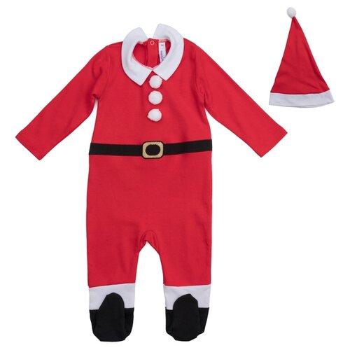 Купить Костюм playToday Санта (477802), красный, размер 68, Карнавальные костюмы