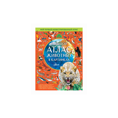 Купить Хокинс Э. Большой атлас животных в картинках , Аванта (АСТ), Познавательная литература