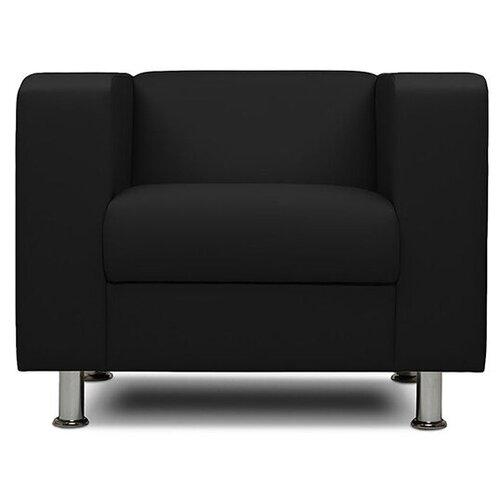 Классическое кресло Шарм-Дизайн Бит размер: 88х75 см, обивка: искусственная кожа, цвет: черный