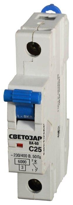 Автоматический выключатель СВЕТОЗАР Мастер 1P (C) 6kA — цены на Яндекс.Маркете