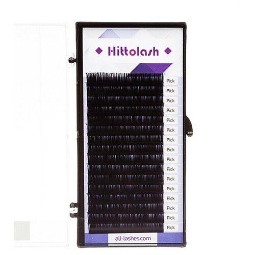 Ресницы черные HITTOLASH отд. длины, 16 лент C+ 0,07 13 mm